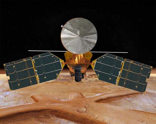 Mars Reonnaissance Orbiter é o principal satélite que retransmite sinais do Curiosity à Terra (Foto: Divulgação)