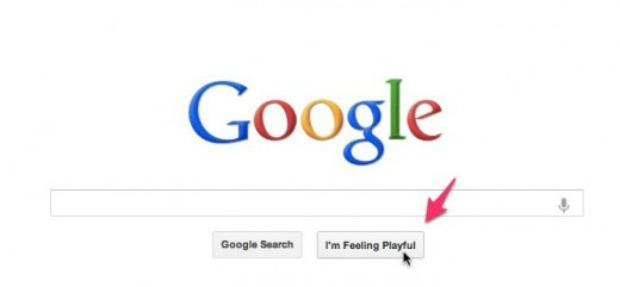 Função 'Estou com sorte' do Google muda quando você passa o mouse (Foto: Reprodução)