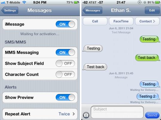 Apple recomenda utilizar o recurso iMessage do iOS (Foto: Reprodução) (Foto: Apple recomenda utilizar o recurso iMessage do iOS (Foto: Reprodução))