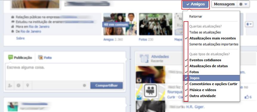 """Em """"Amigos > Configurações"""", faça as (des) marcações que desejar (Foto: Reprodução/Marcela Vaz)"""