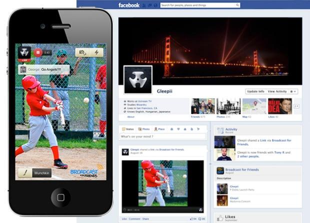 Serviço do Ustream promete fazer streaming do iPhone para o Facebook (Foto: Reprodução)