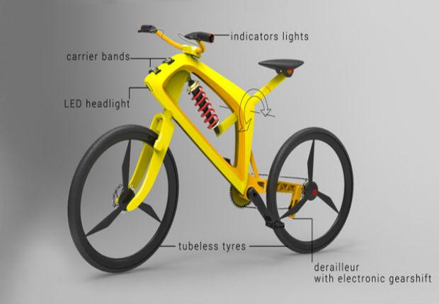 Bicicleta conceitual automática (Foto Divulgação)
