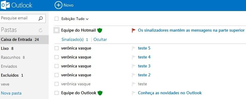 Faça seu login no Outlook.com (Foto: Reprodução/Verônica Vasque)