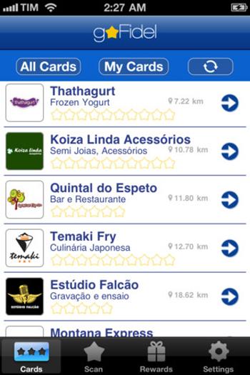 App goField substitui os cartões de fidelidade em papel (Foto: Reprodução)