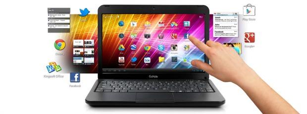 GoNote é um netbook com touchscreen e ICS (Foto: Divulgação)
