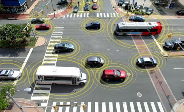Veículos trocarão dados como posição e velocidade (Foto: Reprodução/ Departamento de Trânsito dos Estados Unidos)