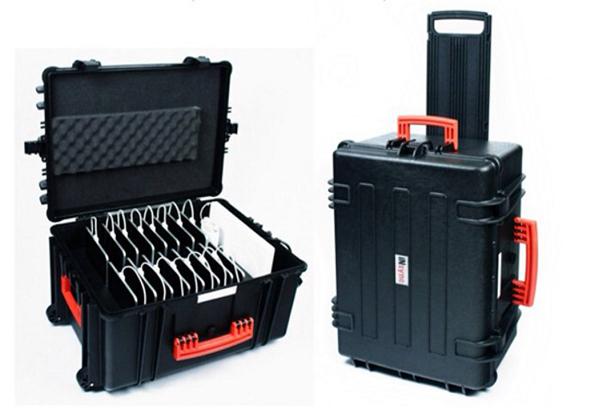 InSync Transport Case carrega até 16 iPads e um MacBook de 13 polegadas de uma vez só Fonte Reprodução