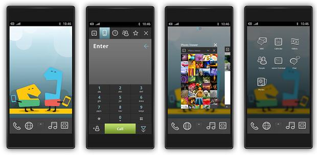 Projeção do Meego Phone da Jolla (Foto: Reprodução)