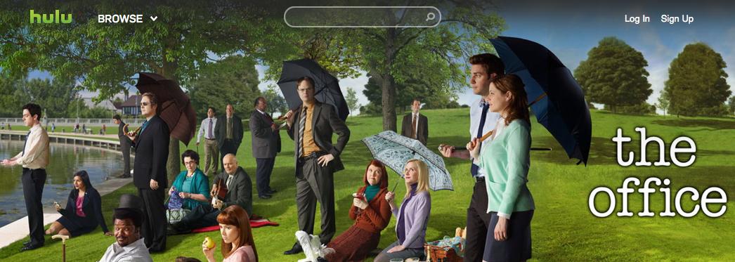 Capas dos programas de TV ganham mais destaque no novo design do Hulu (Foto: Reprodução/Hulu)