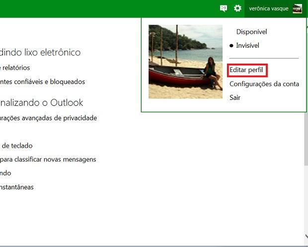 Personalize os seus dados que aparecerão para os seus contatos (Foto: Reprodução/Verônica Vasque)