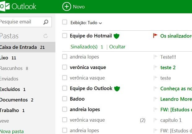 Escolha uma cor para customizar seu e-mail (Foto Reprodução Verônica Vasque)