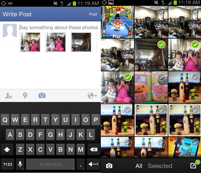Compartilhamento de várias imagens ao mesmo tempo, a nova função do aplicativo para Android (Foto: Reprodução)  (Foto: Compartilhamento de várias imagens ao mesmo tempo, a nova função do aplicativo para Android (Foto: Reprodução) )