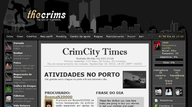 The Crims é um famoso jogo online onde usuário vira um criminoso (Foto: Reprodução)