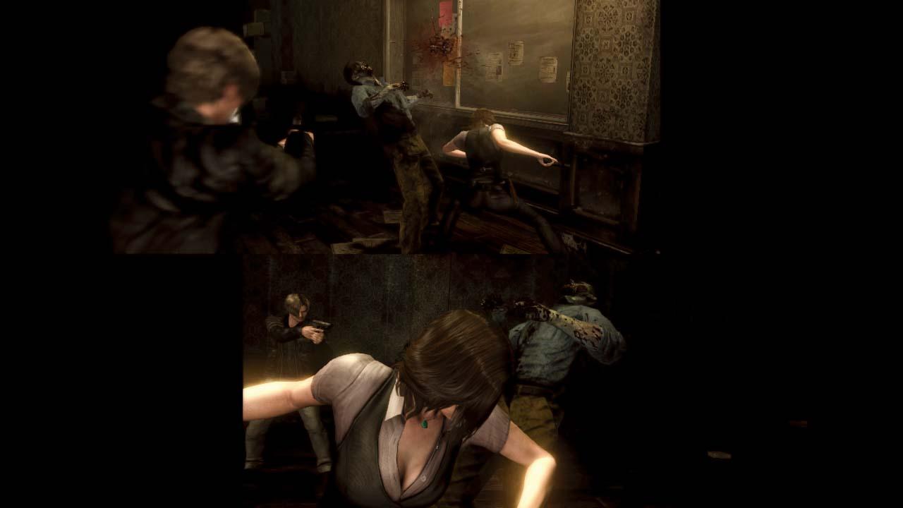 O modo co-op offline de Resident Evil 6 (Foto: Divulgação)