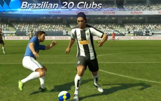 Ronaldinho Gaúcho em PES 2013 (Foto: Reprodução)