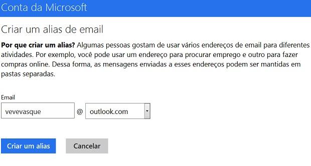 Conta da Microsoft (Foto Reprodução Verônica Vasque)