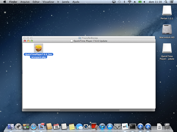 Abrindo o arquivo de Instalação do QuickTime 7.6.6 (Foto: Reprodução/Edivaldo Brito)