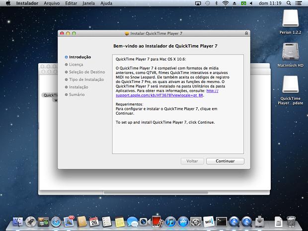 Iniciando a instalação do QuickTime 7.6.6 (Foto: Reprodução/Edivaldo Brito)