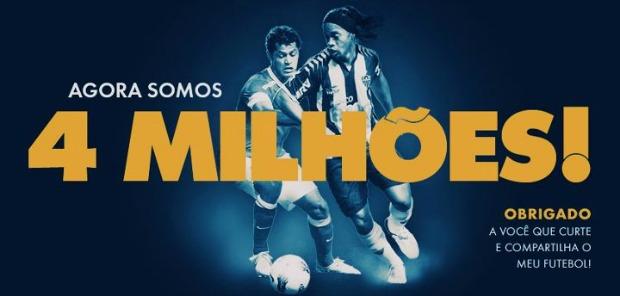 Ronaldinho já tem mais de quatro milhões de fãs no Facebook (Foto: Reprodução)
