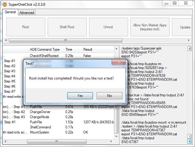 """A mensagem: """"Root install complete"""", será exibida em caso de sucesso (Foto: Reprodução)"""
