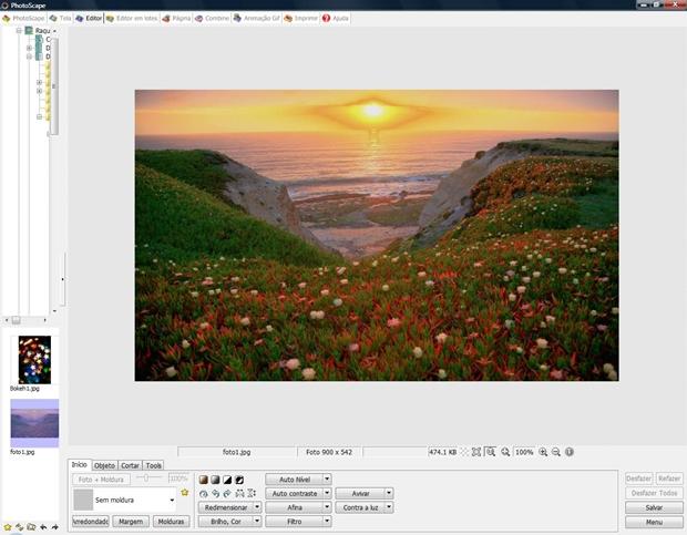 """Inicie o Photoscape no menu """"Editor"""" (Foto: Reprodução)"""