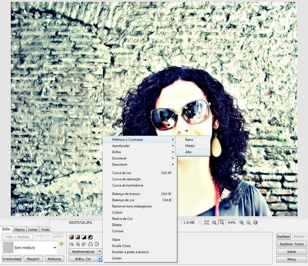 Finalize o efeito aumentando o contraste da foto  (Foto: Reprodução)