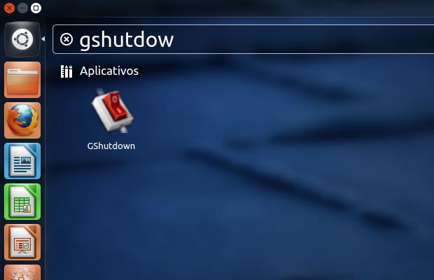 Executando o GShutdown no Ubuntu (Foto: Reprodução/Edivaldo Brito)
