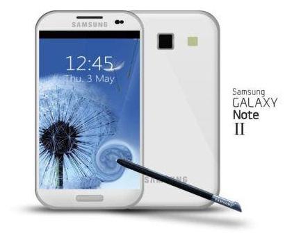 Projeção do Galaxy Note 2 (Foto: Reprodução)