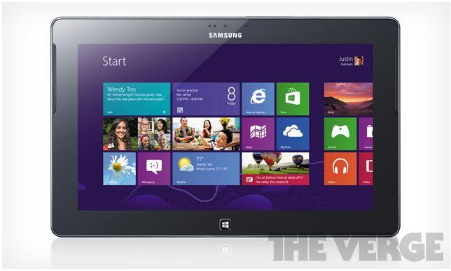 A fabricante coreana deve anunciar também o ATIV Tab, com Windows 8 RT (Foto: Reprodução/The Verge)