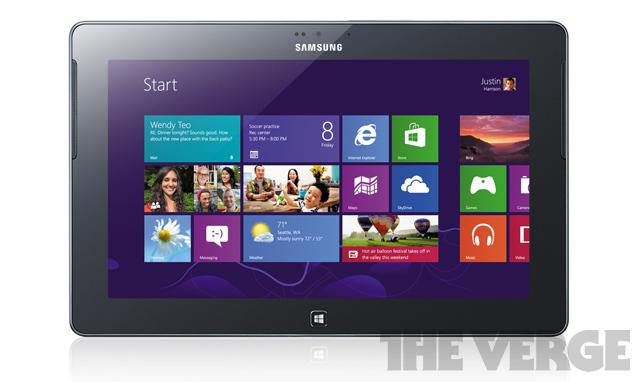 Samsung Ativ Tab, o primeiro tablet com Windows 8 (Foto: Reprodução/The Verge)