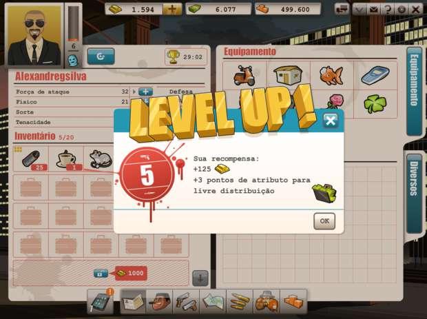 Suba de nível para ganhar ouro grátis (Foto: Reprodução)