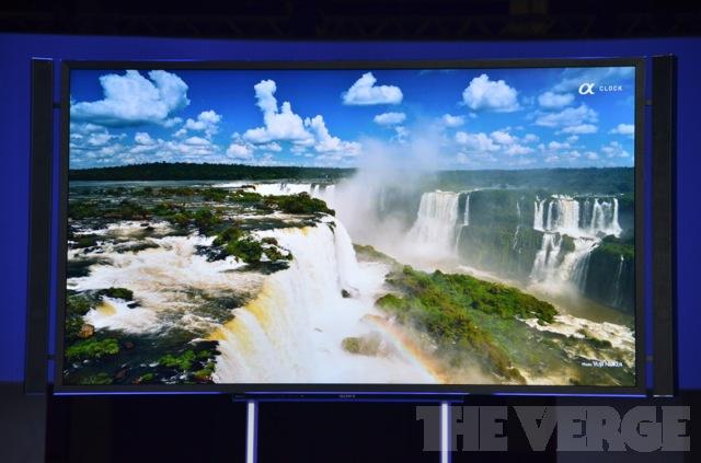 Nova BRAVIA 4K de 84 polegadas lançada pela Sony na IFA 2012  (Foto: Reprodução/The Verge)