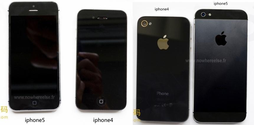 iPhone 5 lado a lado com iPhone 4 (Foto: Reprodução) (Foto: iPhone 5 lado a lado com iPhone 4 (Foto: Reprodução))