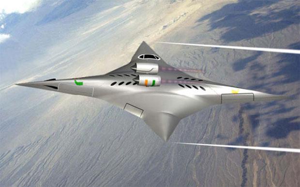 Foto mostra configuração supersônica do avião, onde comprimento supera largura (Foto: Reprodução)