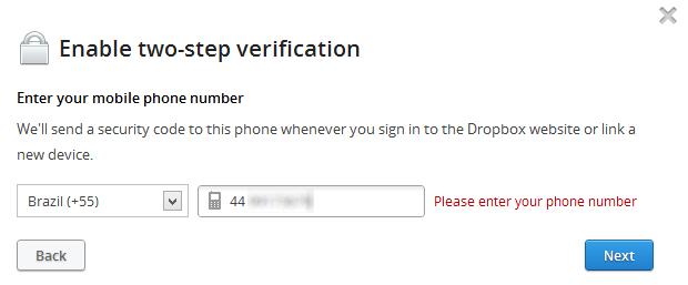 Configurando o número de telefone (Foto: Reprodução/Helito Bijora)