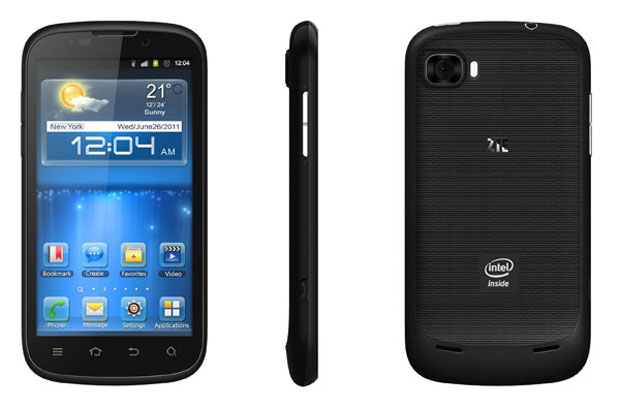 Smartphone aposta nos chips da Intel e vem com Android 4.0 instalado (Foto: Divulgação)