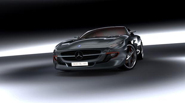 Modelo clássico da Mercedes ganha nova vida com o conceito de Silame (Foto: Reprodução)