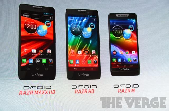 Novos modelos RAZR da Motorola (Foto: Reprodução/The Verge)