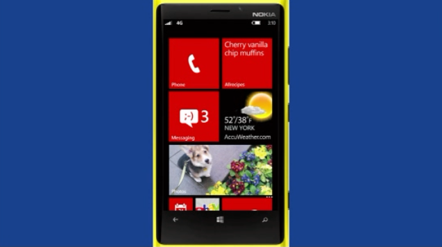 Tela do novo Windows Phone 8 em um Nokia 920 (Foto: Reprodução)