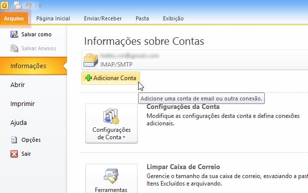 Ativando uma conta ao Outlook (Foto: Reprodução/Helito Bijora)