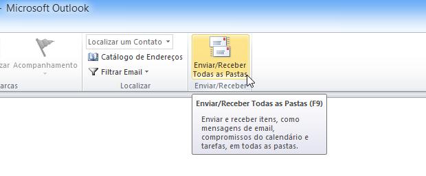 Sincronizando e-mails com o Outlook (Foto: Reprodução/Helito Bijora)