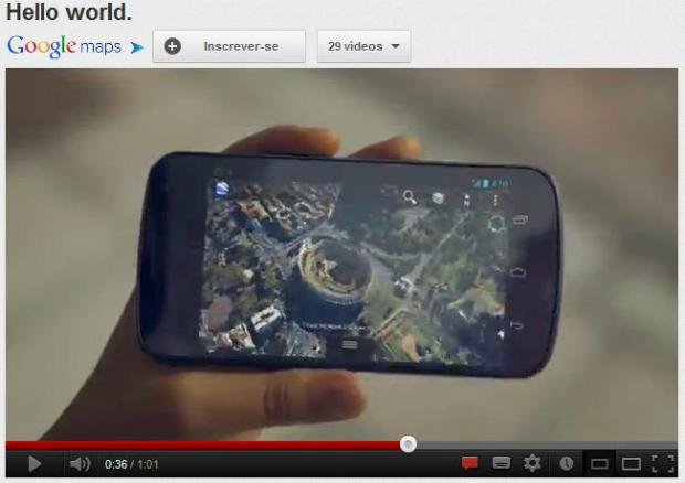 Vídeo do Google tem repercussão positiva no YouTube (Foto: Reprodução)