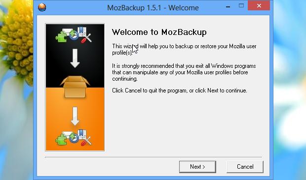 Apresentação do MozBackup (Foto: Reprodução/Helito Bijora)