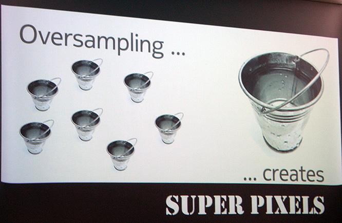 """A Nokia explicando o recurso """"oversampling pixel"""" (Foto: Reprodução)"""