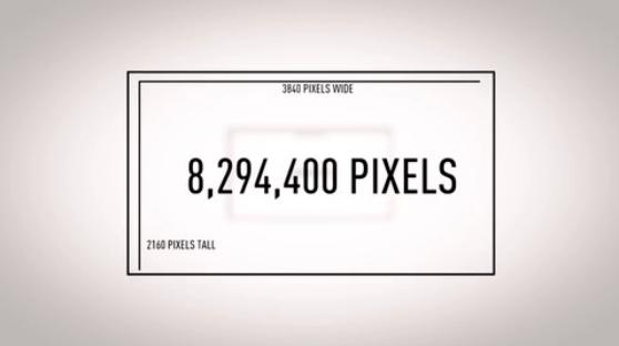 Resolução e pixels dentro de uma TV 4K (Foto: Reprodução/The Verge)