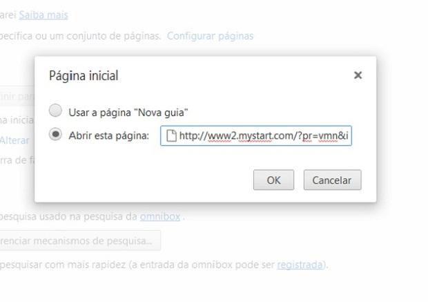 Apague o endereço do Mystart do campo de texto (Foto Reprodução Verônica Vasque) 2