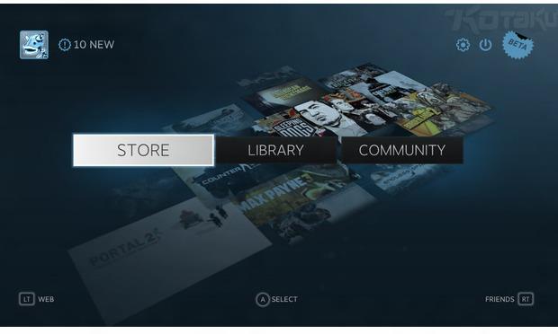 Interface do suposto app Steam para tvs (Foto: Reprodução)