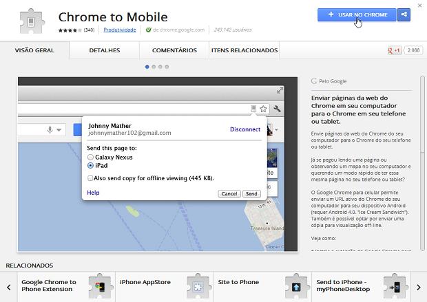 Instando uma extensão no Chrome (Foto: Reprodução/Helito Bijora)