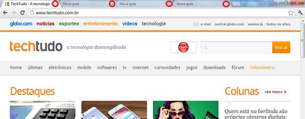 Fechando abas no Chrome (Foto: Reprodução/Edivaldo Brito)