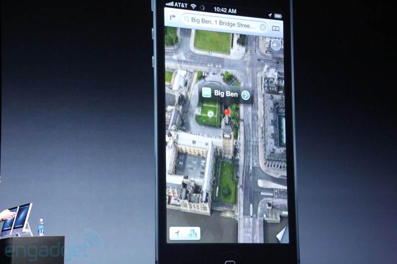 Novo Maps no iPhone 5 (Foto: Reprodução/Engadget)
